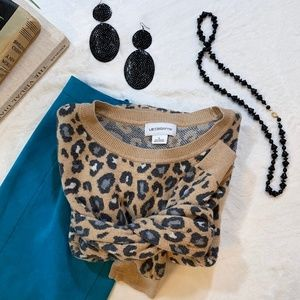 Liz Claiborne Cheetah Sweater